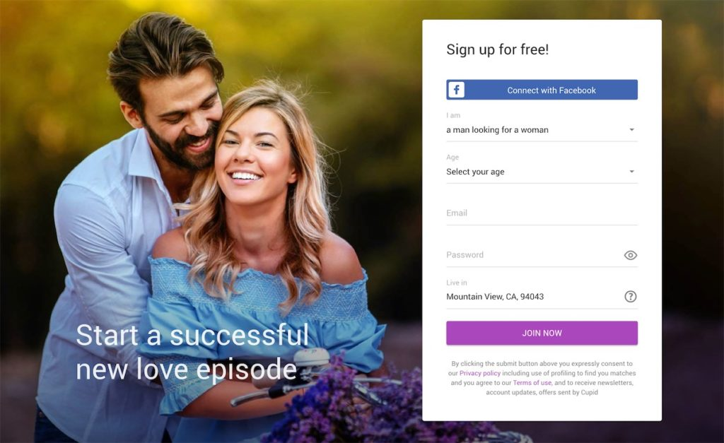 Cupid Homepage