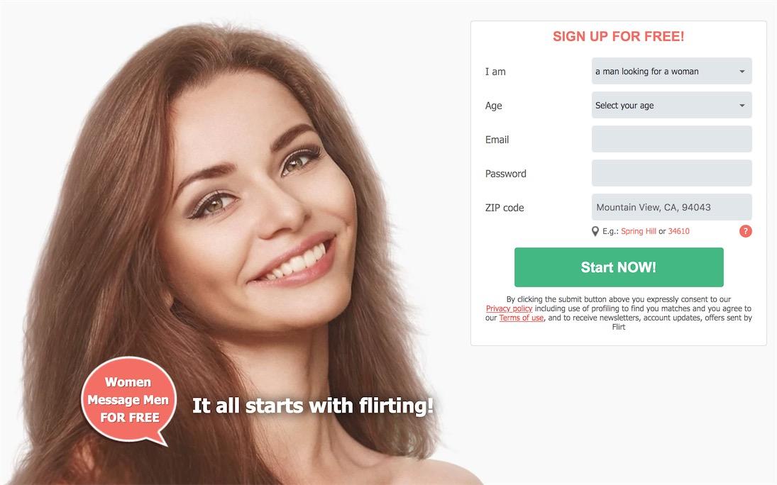 Flirt Homepage