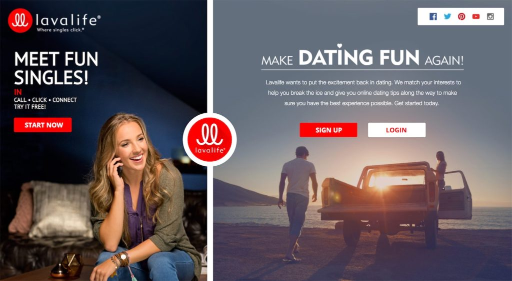 Lavalife Homepage