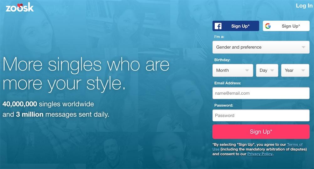 Zoosk Homepage