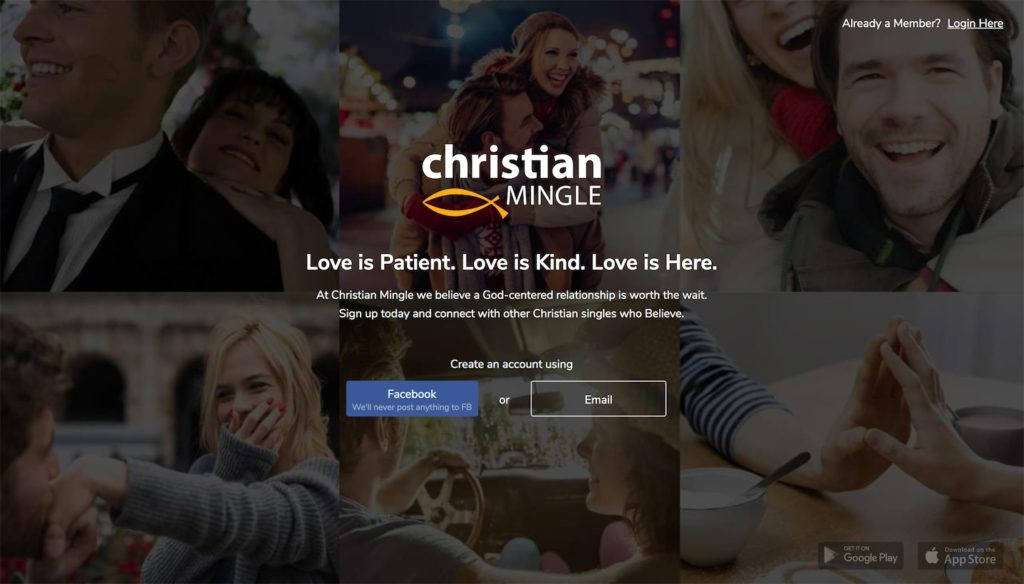 christianmingle homepage