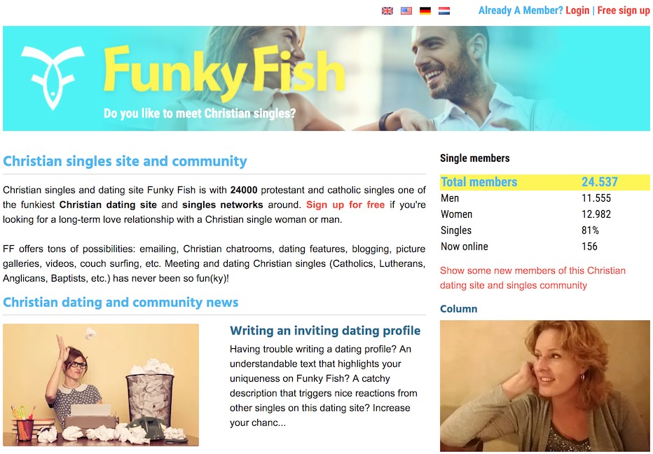 funkyfishdating homepage