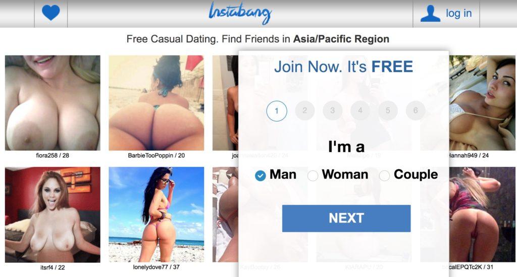InstaBang Homepage