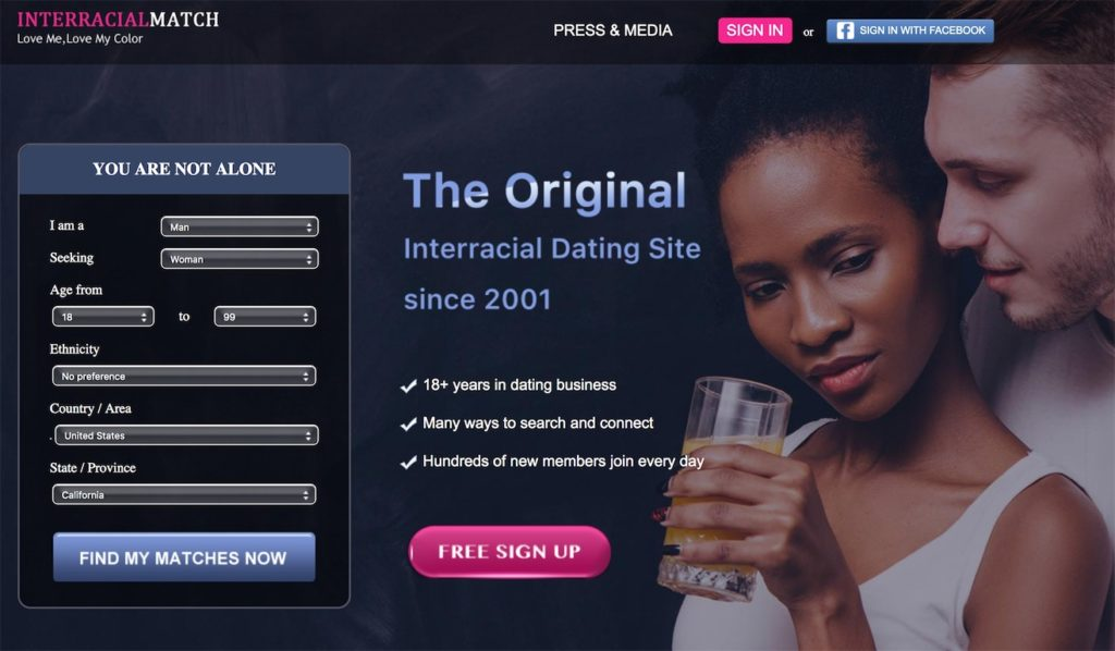 InterracialMatch Homepage