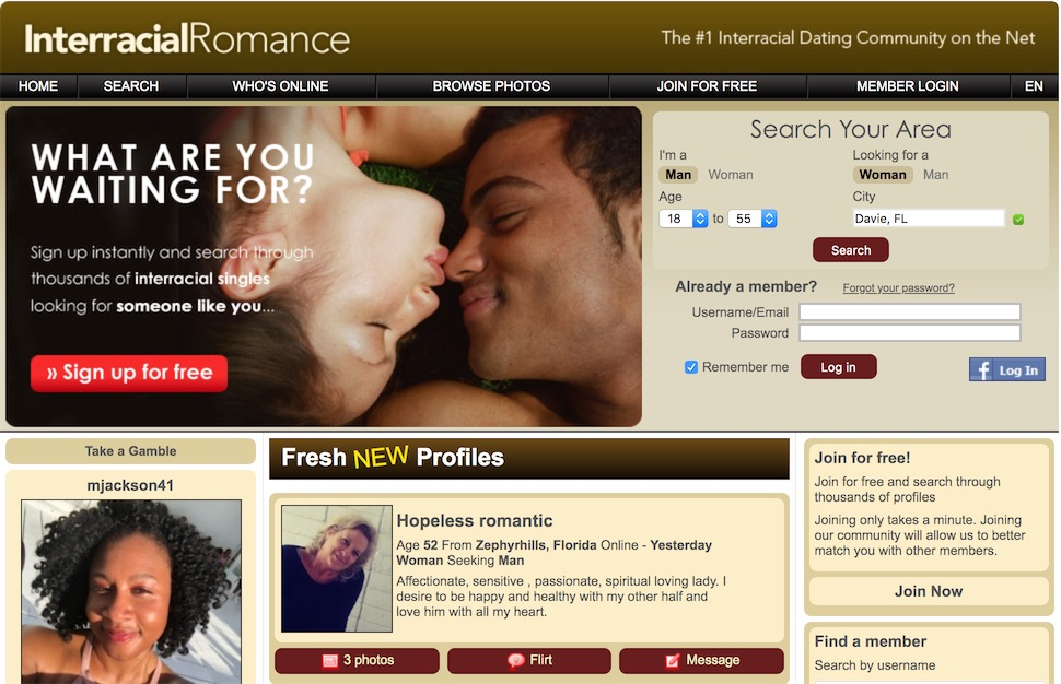 InterracialRomance Homepage